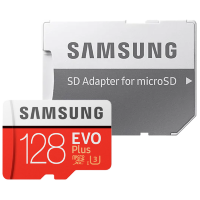 Карта памяти Samsung EVO Plus microSDXC Memory Card 128Gb Class10 UHS-I U3 + SD Adapter