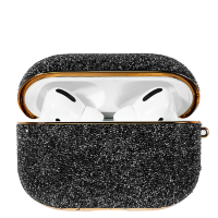 Чехол Kingxbar Crystal Fabric для Airpods Pro Чёрный
